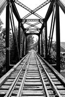 Black and White Historical Bridge