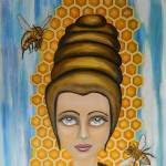 """Queen Bee an the nectar of the gods"" by ClaudiaTuli"
