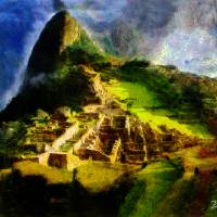 MACHU PICCHU PERU Art Prints & Posters by Miguel Angel Zaboni