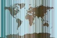 World Map Abstract Barcode