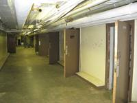 Patient rooms in the basement