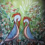 """Enchanted Garden : Birds in Paradise"" by kristensteinfineart"