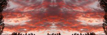 Sunset Panorama Psychedelic Trance