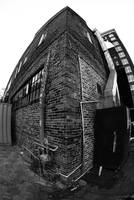 Brick Building Fish Eye view
