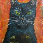 """Black Cat"" by paintingsbygretzky"