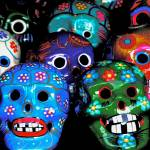 """Traditional Mexican Laughing Skulls"" by DanielleParker"