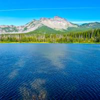 Santiam Lake and Three Fingered Jack