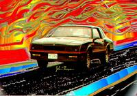 86 Monte Carlo SS Drag Racing