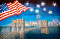 A mural dedicated to 9_11_ The quarters of Engine
