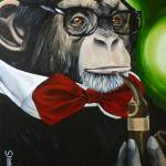 """Professor Chimpo Revisited"" by DamiansART"