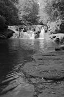Dick's Creek Falls - Monochrome I