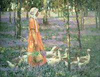 The Goosegirl, c.1922 (oil on canvas)