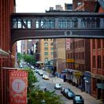 """Pedestrian bridge of Nabisco factory_ New York Cit"" by tysonwilliams"