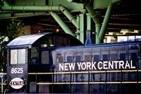 The former Penn Central yard_ with an old locomoti