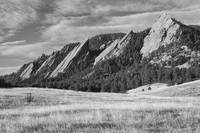 Majestic  Flatiron View Boulder Colorado BW
