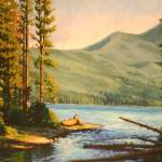 """Impressionistic Painting of Mountain Lake Entitled"" by kevinmccain"
