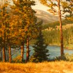 """Impressionist Painting of High Mountain Lake"" Morn"" by kevinmccain"