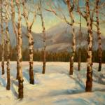 """Impressionistic Painting or Aspens in Winter"" by kevinmccain"