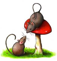 Mice Meeting At The Toadstool