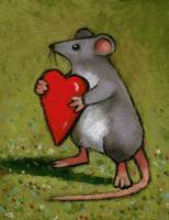 Mouse Holding Heart