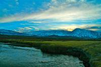 nightfall in Owens Valley