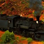 """Canyon Train"" by artstoreroom"