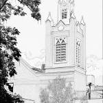 """""""The Church in Old Albuquerque"""" by Mac"""