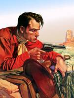 Wild West Red-Shirted Cowboy