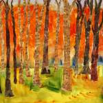 """""Sonatina Forest"" Abstract Birch TREE Wall art, mi"" by schulmanart"