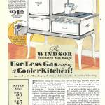 """VINTAGE AD GAS RANGE"" by homegear"