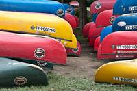 Colorful Canoes in Kentucky