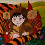 """""""RIGHT SIDE Timothy and the Tiger diptych"""" by deathcockroach"""