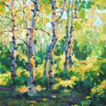"""Plein Air Impressionist Painting ""Aspens in Summer"" by kevinmccain"
