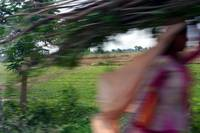 Indian Woman in Motion