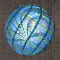 Shades of Blue Glass Orb