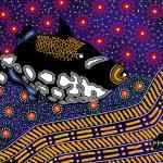 """""""Aboriginal Art """"Clown Trigger"""""""" by KenKendallDesign"""