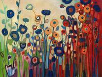"""Meet Me In My Garden Dreams Painting/Acrylic """"Abstract """""""