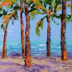 """Palms on the Beach"" by LeslieSaetaFineArt"