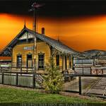 """HDR SUNSET TRAIN DEPOT"" by louisruthphotography"
