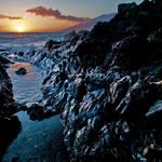 """Lava Rock Sunset I"" by iocchelli"