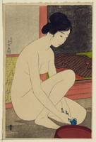 Japanese lady after bath