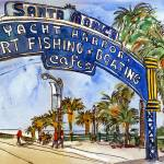 """Los Angeles Painting, Art of California, watercolo"" by schulmanart"