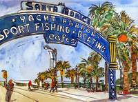 Los Angeles Painting, Art of California, watercolo