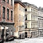 """Buildings of Gamla Stan"" by JennyHudson"