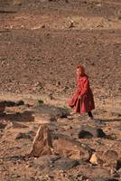 Girl in the desert