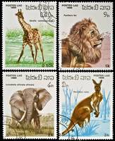 Collection of wild animals stamps.