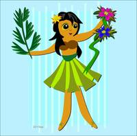 Hula Girl Dancing with Nature