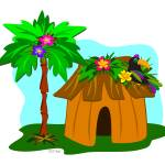 """""""Tropical Hut and Toucan"""" by theblueplanet"""