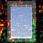 """the Ten Commandments on stain glass"" by CatherineDWright"