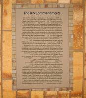 the ten commandments on brick